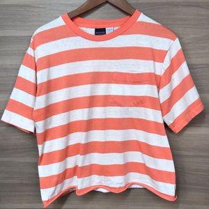 Land's End Vintage Cropped Stripe T-shirt